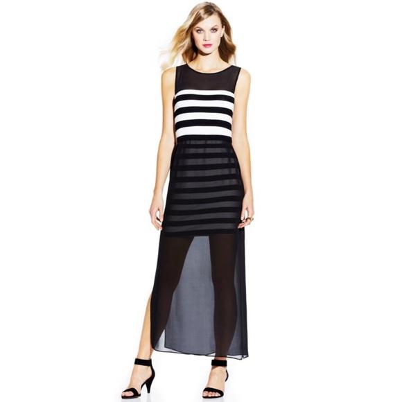 dcfa11b612 🎉SALE NWT Vince Camuto Striped Chiffon Maxi Dress